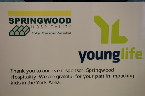 Young Life York Sponsorship Sign